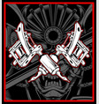machine tattoo hand drawing vector image vector image
