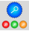 Magnifier glass sign icon Zoom tool button vector image vector image