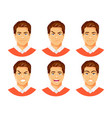 man emotions vector image