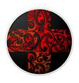 maori style cross shape vector image vector image