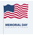 memorial day poster card with usa flag vector image vector image