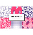 memphis seamless patterns vector image
