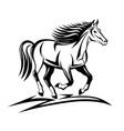 modern horse logo vector image vector image