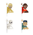 monstrosity costume role character halloween party vector image