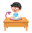 of kid writing vector image vector image