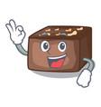 okay character homemade delicious fresh almonds vector image vector image