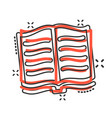 open book icon in comic style literature cartoon vector image vector image