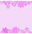 Pink borders with flowers vector image vector image