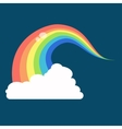 Rainbow icon flat LGBT concept image vector image vector image
