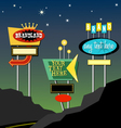 retro roadside neon signs 1 vector image vector image