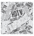 satellite tv hdtv 1 text background wordcloud vector image vector image