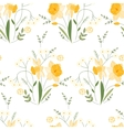 Seamless pattern with stylized cute yellow vector image vector image