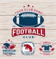 set american football or rugclub badge vector image vector image