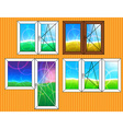 Set of window templates vector image vector image