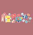 set stickers email marketing theme business vector image vector image