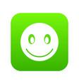 smiling emoticon digital green vector image vector image