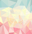 spring is coming on a polygonal background vector image vector image