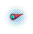 Spyglass icon in comics style vector image vector image
