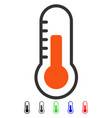 temperature flat icon vector image