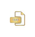 TIFF computer symbol vector image vector image