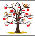 tree rowanberry by late autumn vector image vector image