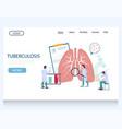 tuberculosis website landing page design vector image vector image