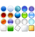 Variety of glossy icons vector image