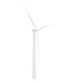 White wind turbine vector image vector image