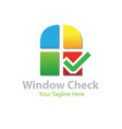 windows check logo designs vector image