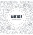 work bar asian cuisine banner template menu cafe