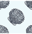 Zentangle stylized sea shell seamless pattern Hand vector image vector image