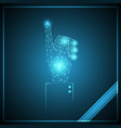 technology polygon touch point hand businessman vector image