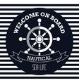 welcome on board emblem design vector image