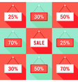 Sale 25 30 50 and 70 Sign Icons Set vector image