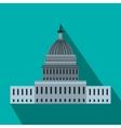 White House in Washington DC flat icon vector image