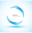 abstract swirl energy blue circle vector image