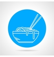 Noodles blue round icon vector image