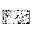 Grunge frame texture black white vector image