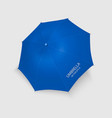 3d realistic renderblue blank umbrella icon vector image vector image