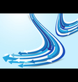 Abstract blue and white arrows background vector image vector image