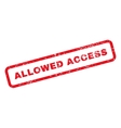 Allowed Access Text Rubber Stamp vector image vector image