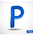 Alphabet Letter P Watercolor Alphabet vector image vector image