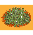 Angry green microbes vector image