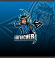 archer esport mascot logo design vector image