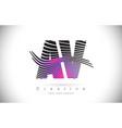 av a v zebra texture letter logo design with vector image vector image