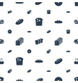 bake icons pattern seamless white background vector image vector image