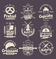 Bakery Vintage Style Emblems vector image