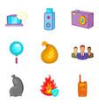 bill icons set cartoon style vector image vector image