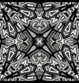 black and white abstract kaleidoscope background vector image vector image