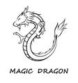 black dragon eps 10 vector image vector image